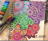 Zentangle flowers & pens