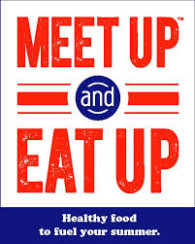 meet up and eat up logo - verticle rectangle
